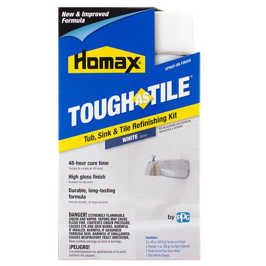Homax 174 Tough As Tile 174 Spray On Tub Sink Amp Tile